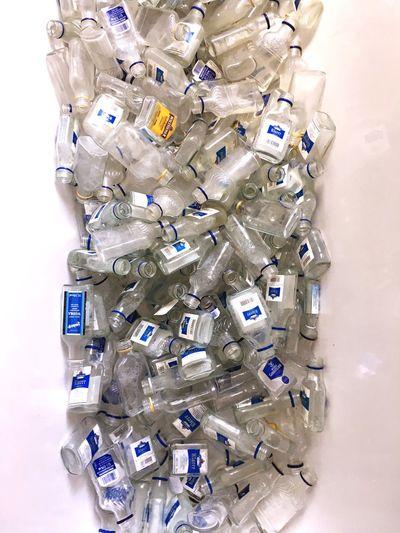 EyeEm Selects Bottles Collection Glass Bathtub Bathtubphotoshoot Abundance Large Group Of Objects Vodka🍹 Alcholic  Alchohol Blue Label Alcholic Beverage Recycling Installation Art In Process