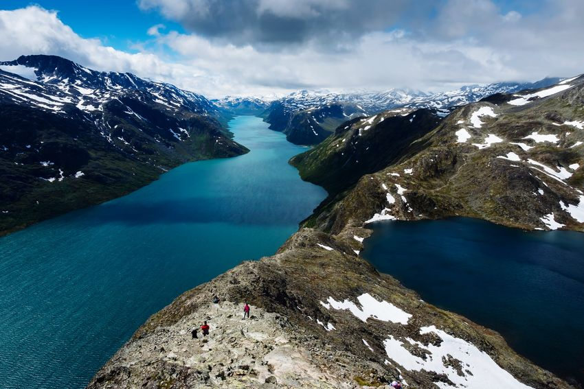 Amazing glacier lakes scenery in Norway 🇳🇴 on the Besseggen Ridge Norway EyeEm Selects Water Nature Sky Beauty In Nature Tranquility Scenics Day Lake Mountain Outdoors Mountain Range