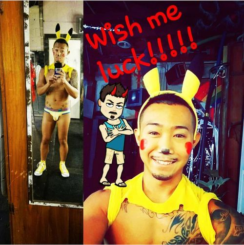 Male performer, and dancer at club 212 in Amarillo Tx Pikachu Smiling Gayguy Gaylife Gaycosplay Gayperformer Gayinked Dancer Cosplay Maledancer Gayfitness Andrewchristian Pokémon