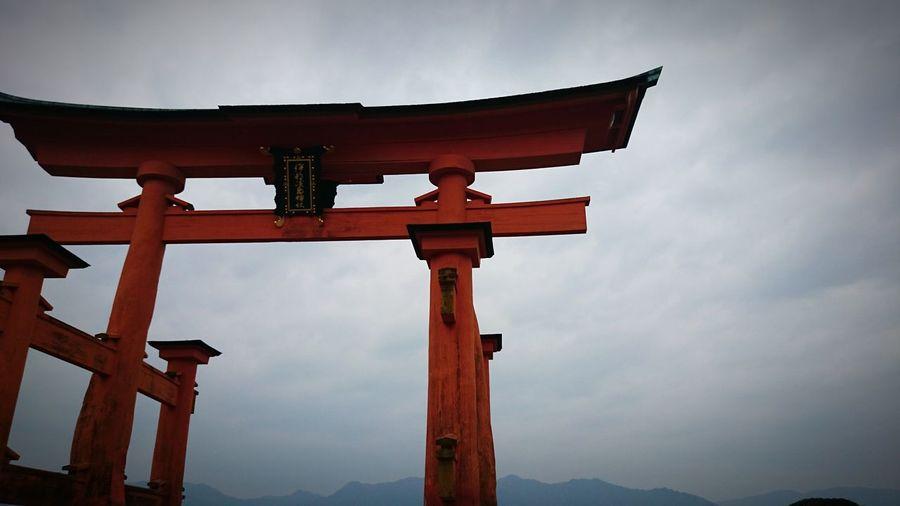 Hiroshima -Miyajima 厳島神社(Itsukushima Shrine) 大鳥居(o-torii Gate) Japan Sightseeing