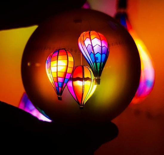 Glaskugelfotografie Glaskugel Ballphotography Kugelfoto Glassphere Illuminated No People Close-up Celebration Day