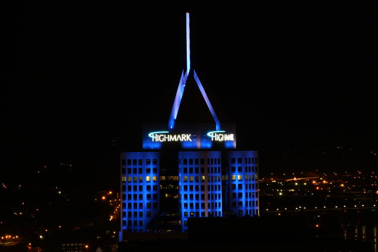City in Blue Pittsburgh Canon My City Pennsylvania Pittsburghstrong Solidarity Honor Respect Love Peace Healing My City Pennsylvania Rise Above Love Everyone Peace On Earth City Cityscape Neon Illuminated Nightlife