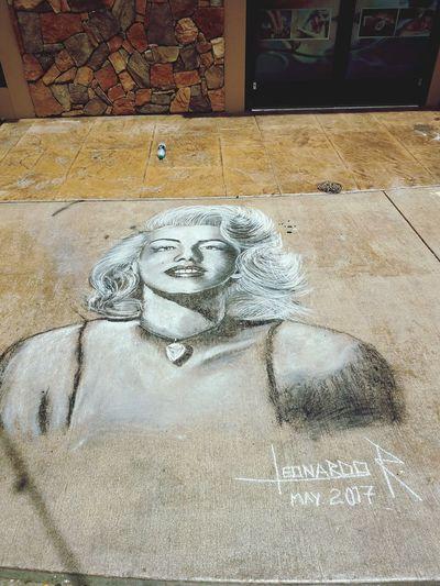 Human Representation Outdoors Day Chalk Art Marilyn Monroe <3 Celebrity EyeEmNewHere