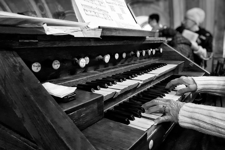 Old wrinkled hands on even older pipe organ's keyboard play the same melody that they used to do for ages Pipe Organ Keyboard Instrument Keyboard Music Musical Instrument Piano Indoors  Arts Culture And Entertainment Piano Key Close-up One Person Adult People Focus On The Story