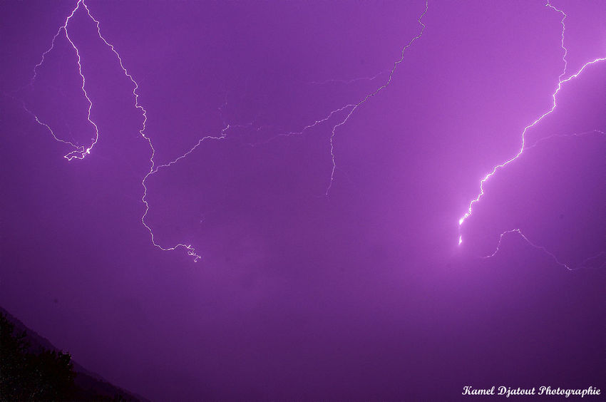 Beauty In Nature Cloud - Sky Grenoble Lightning Nature Night No People Power In Nature Purple Sky Thunderstorm