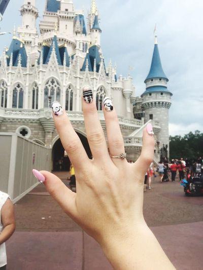 Disney DisneyWorld Castle Nails Princess Fairytale