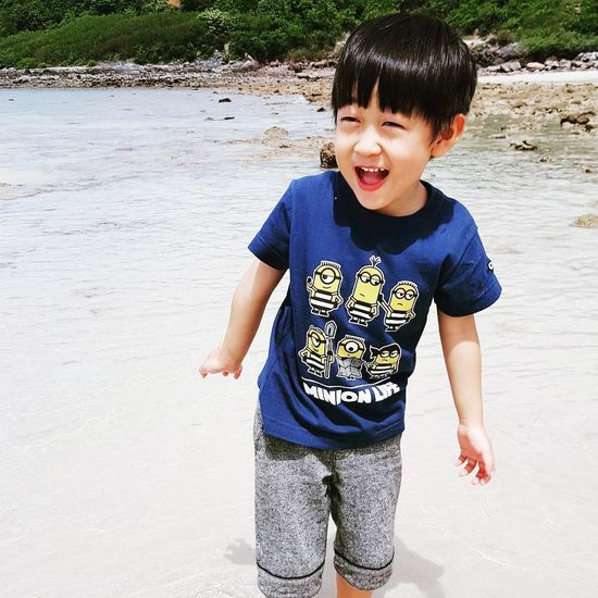 Smile Smile Children Child Kid Smiling Boy On The Beach