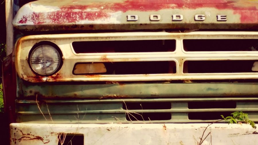 Car Transportation No People Land Vehicle Outdoors Day Close-up Fender Truck Grill Old Truck Photography Dodge Rusty Metal