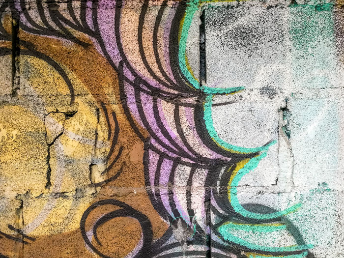 Abandoned Aged Art ArtWork Backgrounds Brick Wall Cement Wall Close-up Colorful Day Exterior Full Frame Graffiti Wall Idea Multi Colored No People Old Outdoors Paint Painting Spray Paint Spraying Style Surface Textured
