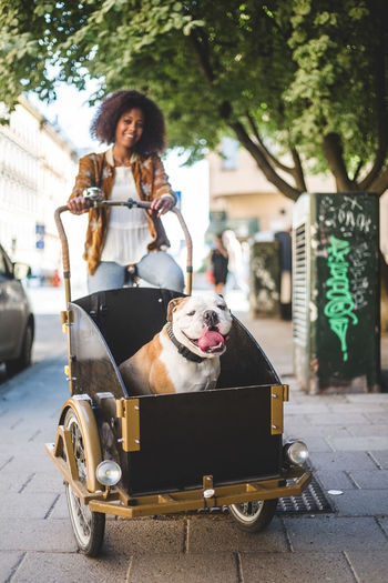 Portrait of senior woman on street in city
