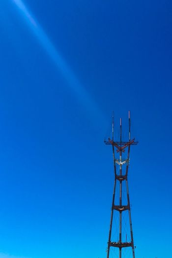 San Francisco Sutro Towers As Shot...natural Flare 🎲 Blue Low Angle View Day Clear Sky Copy Space Outdoors No People Sky