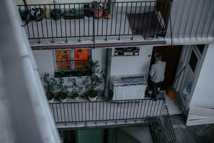 Man working at window