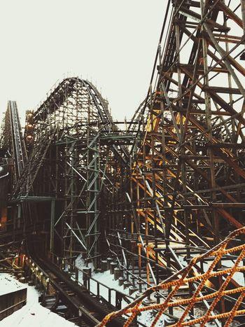 Seoul Korea Everland Rollercoaster Winter Scary