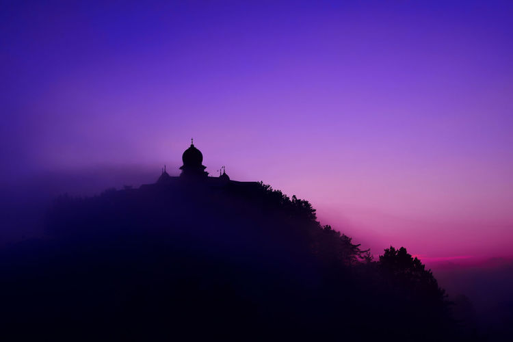 Colourful sunset........ Religion Silhouette Spirituality Travel Destinations Sunset No People Place Of Worship Eyeemphoto Clouds Shimla Shivalik Indianhimalayas Picoftheday Himalayas Simla Sun Tokina Nikon D610 Photography Traveldairies Colorful Tamron Ankitdogra Himachalpradesh
