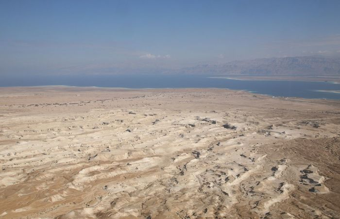 View on Dead sea from Masada Israel Ancient Beauty In Nature Dead Sea. Desert Fortification Fortress History Israel Judea Landscape Masada Mountain Nature Palestine Rock Ruin Salt Salty Scenics Sea Stone Wild