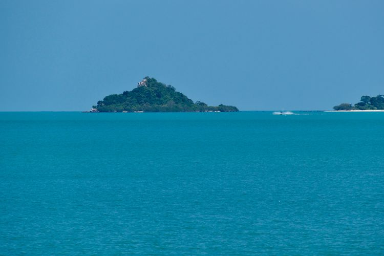 Sea Water Blue Scenics - Nature Beauty In Nature Waterfront Tranquility Tranquil Scene Sky No People Idyllic Nature Horizon Clear Sky Turquoise Colored Day Horizon Over Water Copy Space Outdoors Sea And Sky Shoreline Coastline Sea View Ko Samui Island
