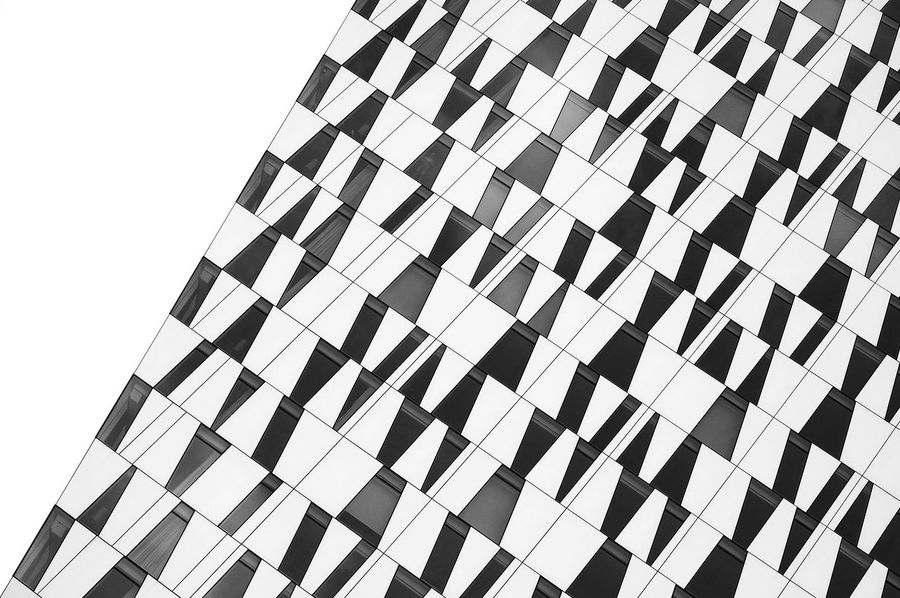 Abstract Architecture Arrangement Backgrounds Blackandwhite Close-up Design Detail Empty Full Frame Geometric Shape In A Row Lines And Shapes Modern No People Outdoors Pattern Patterns Repetition Side By Side Window Showcase July Pivotal Ideas Monochrome Photography Neighborhood Map