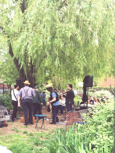 Music was in the air at the community garden.