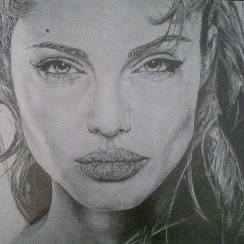 Found this the other day from A level. Angelina is the one. Angelina Angelinajolie Angelinajoliepitt Angelinajoliescott pencil drawing tonal art pencilstudy illustration celebrity artist artwork artsy