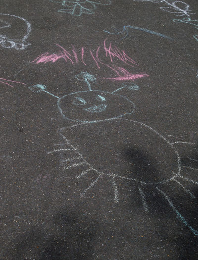 Abstract Backgrounds Chalk Art Child Drawing Close-up Day Detail Full Frame No People Outdoors Paint