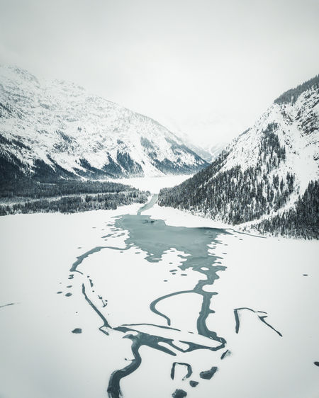 Beautiful Plansee captured during in winter by drone. Mountain Cold Temperature Scenics - Nature Winter Beauty In Nature Snow Nature Sky Tranquil Scene Tranquility Mountain Range Environment Day Non-urban Scene Snowcapped Mountain Water No People Landscape Outdoors Austria Plansee Tirol  Drone  Bautiful My Best Photo