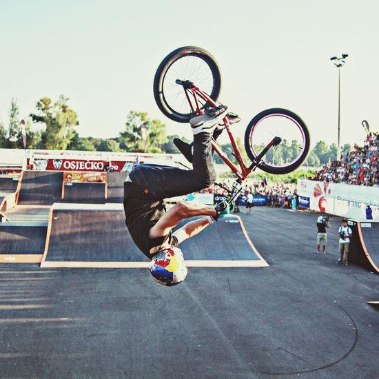 BMX pro Senad Grošić at Pannonian Challenge Pannonian Challenge RedBull BMX Contest Skatepark