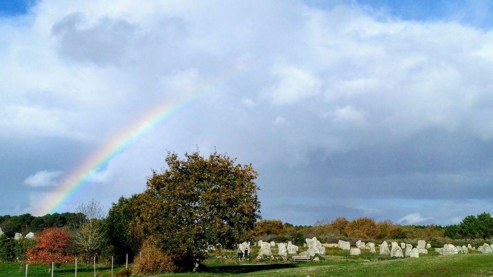 Rainbow Nature Druid's Secret Place Landscape No People Beauty In Nature Cloud - Sky