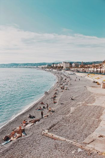 Autumn Nice Europe EyeEm Selects Land Sky Beach Cloud - Sky Nature Scenics - Nature Sea Tranquility Beauty In Nature Water Tranquil Scene Sand Day Environment Outdoors