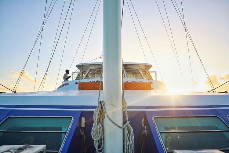Transportation Mode Of Transportation Sky Sunlight Nautical Vessel Nature Travel Day Men Window