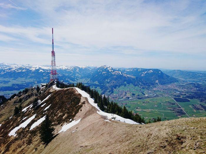Landscape Mountain Communications Tower Mountain Range