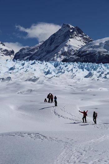 Glacier Hiking Ice People Perito Moreno Perito Moreno Glacier Perito Moreno. Patagonia. Argentina. Treck Walk