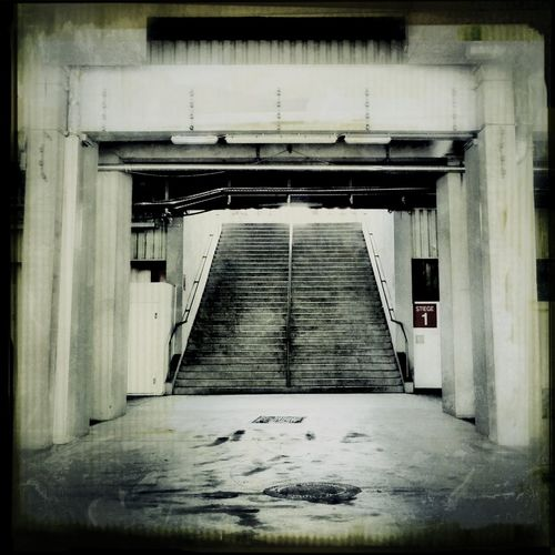 Blackandwhite Stairs Monochrome Prater Stadion