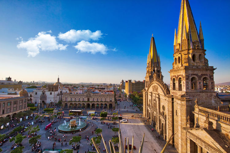 Guadalajara Cathedral (Cathedral of the Assumption of Our Lady), Mexico Architecture Building Exterior Religion Sky Guadalajara Jalisco Guadalajara Cathedral Our Lady Plaza Landmark Tourist Destination Tourist Attraction  Faith History Historical