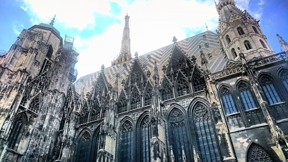 St. Stephen's Cathedral - Vienna Gorgeous Saint Stephan Cathedral Vienna Austria Picoftheday Eurotrip Skyporn Architecture Architecturelovers Artphotography I Love Art Amazing View Culture Pastel Power