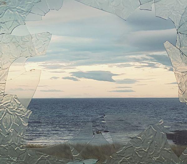 Beach Coast Framed Window View Scotland Love Scotland Water Sea Beach Sand Dune Summer Sand Sunset Mountain Sky Horizon Over Water