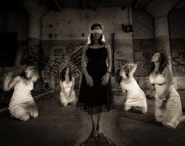Dark Art Surrealist Art Surrealism Group Of People Digital Composite Adult Blurred Motion