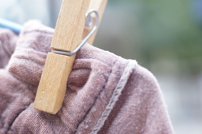 Close-up Clothes Peg Day Day Light Dry Clothes Housework Outdoors Wash