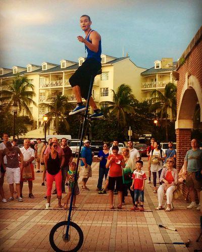 Mallory Square performer Sunset Celebration Unicycle Keywest Florida Travel Conchfused