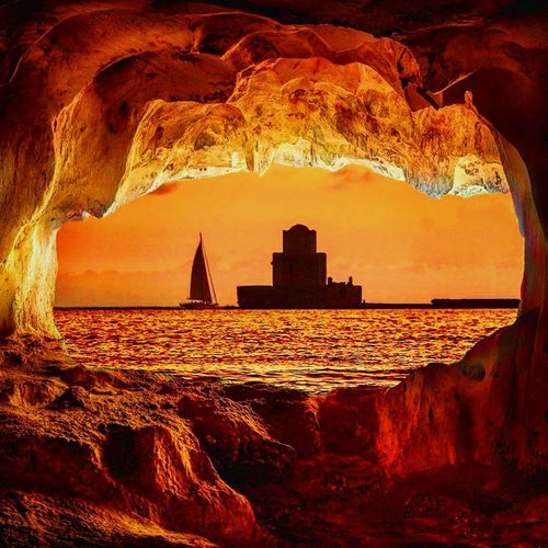 Rocks Sailing Boat Castle Ocra