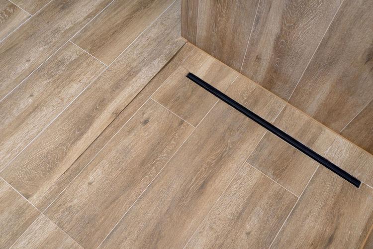 High angle view of hardwood floor