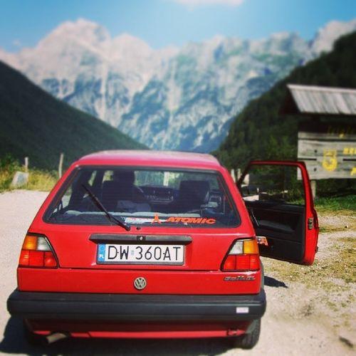VW Volkswagen Vwgolf Classicvw oldtimes oldschool dergolf dasauto alps alpen slovenia slovenija eurotrip
