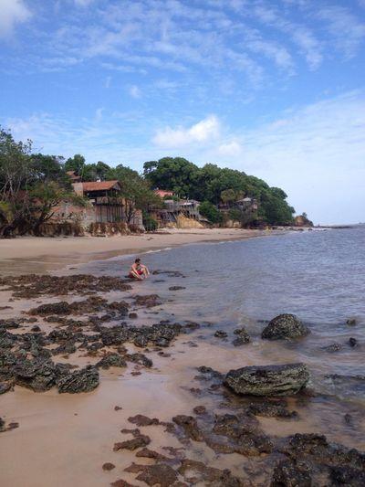 Water Beach Sky Tree Tranquility Vacations Sand Nature Non-urban Scene Rocks Brazil
