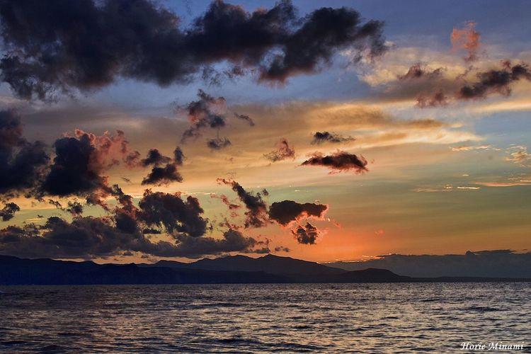 小樽 EyeEm Selects EyeEm Gallery EyeEmNewHere EyeEm Best Shots Sky Water Beauty In Nature Sunset Tranquility Scenics - Nature Sea No People Orange Color Silhouette
