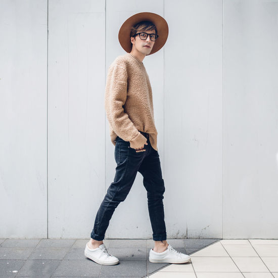 Blogger Casual Clothing City Fashion Fashion Week Fashionable Front View Full Length Hands In Pockets Japan Lifestyles Looking At Camera Menswear Portrait Shibuya Standing Streetstyle Sweater Tokyo Young Adult The Fashion Photographer - 2018 EyeEm Awards