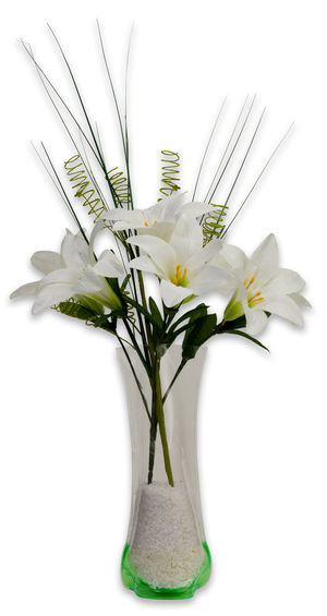 Vase of Lily Flowers Bouquet Flower Flowers Lilys No People Vase White Background White Color White Flowers