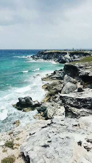 The sea will set you free. Isla Mujeres Island Life Mexico Coastline Waves Blue Water Rocks Coastal Life Salt Air Mayan Ruins Vitamin Sea Beach Life Serenity Ancient Civilization Caribbean Taking It All In Saltwater Cancun The Great Outdoors With Adobe