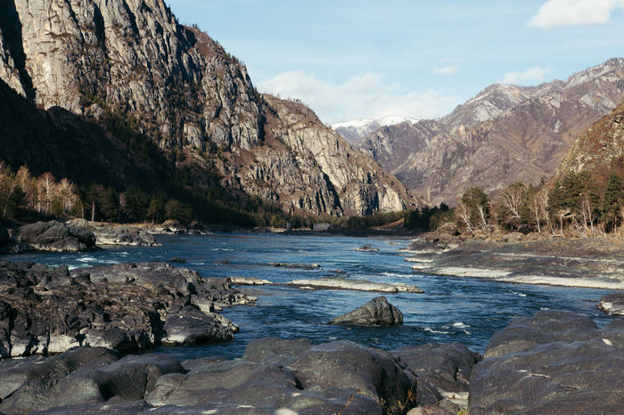 Altay Beauty In Nature Day Fossil Landscape Nature No People Outdoors Rock - Object Sky Water