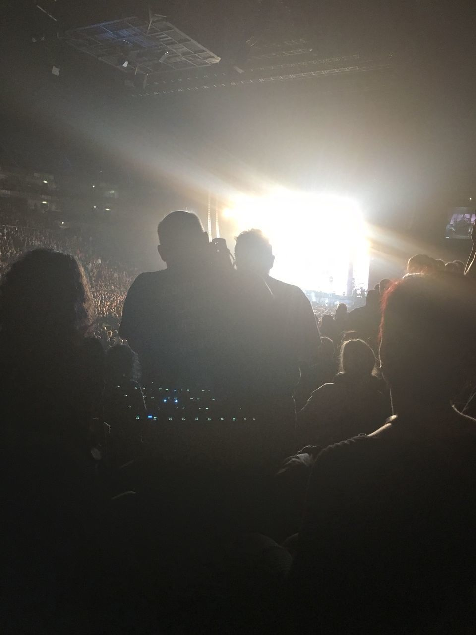 SILHOUETTE OF PEOPLE AT MUSIC FESTIVAL