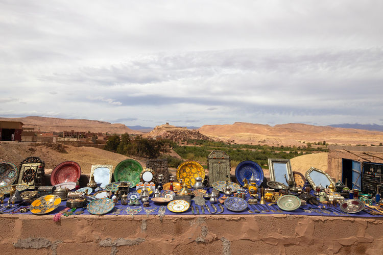Ksar Ksar Ait Ben Hadu Ksar Ait Benhaddou Kasbah Morocco Earthen Building Old World Heritage World Heritage Site Massive Cloud - Sky Day Sky Nature Mountain Transportation Mode Of Transportation Land No People Outdoors Large Group Of Objects Variation Container Side By Side Choice Land Vehicle Architecture Sunlight Mountain Range Built Structure