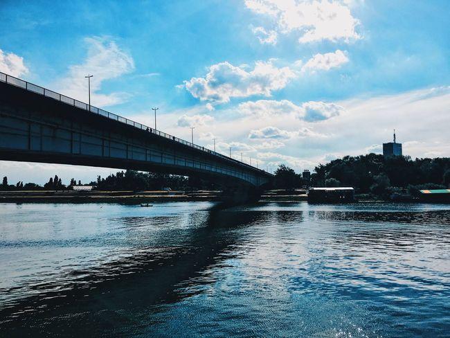 Branko's bridge Sava River Brankovmost Belgrade,Serbia Architecture Connection River Cloud - Sky